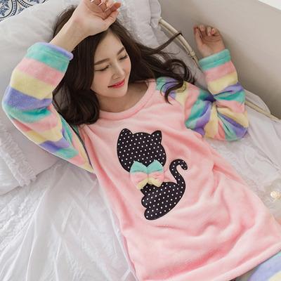 레씨멋부린고양이 극세사 수면잠옷/홈웨어 이지웨어